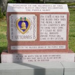 Monument at the entrance to the Purple Heart Hall of Honor