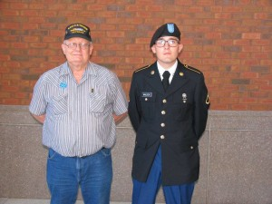 Sarge with a newly minted PFC at his graduation at Ft Benning