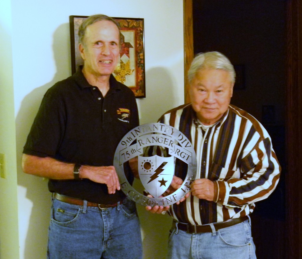 "Rick presenting the ""Unit Director Award"" to Clancy Matsuda."
